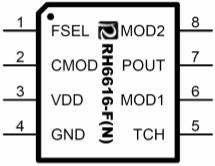 RH6616触摸按键,触摸按键IC,触摸IC,封装图