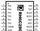 RH6C280  八通道电容式触摸感应IC