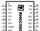 RH6C580  是一款八通道电容式触摸感应IC