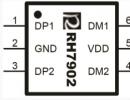 RH7902 USB双通道识别芯片兼容UC2632
