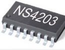 NS4203超低EMI、无需滤波器3W双声道D类音频功放+立体声耳机