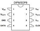 M62429/CD62429/采用二线制串行数据信号控制,