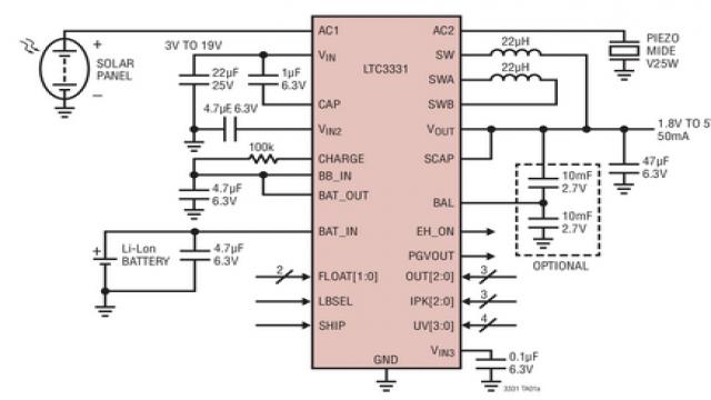 图 3:LTC3331 的典型应用电路