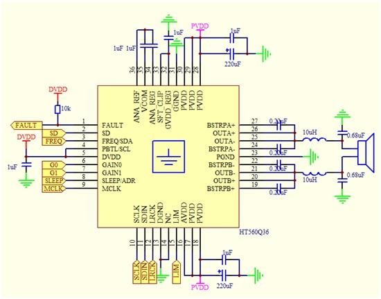 电子电工 电路板/集成电路  超过90%效率,无需散热片 立体声i2s输入